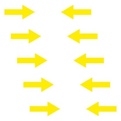 Aufkleber Pfeil 20cm breit gelb Tattoo Auto Tür Folie Weg Hinweis Lauf Richtung