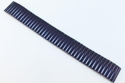 Zugband Flexband 20mm Blau Uhrenarmband Edelstahlband Metallband