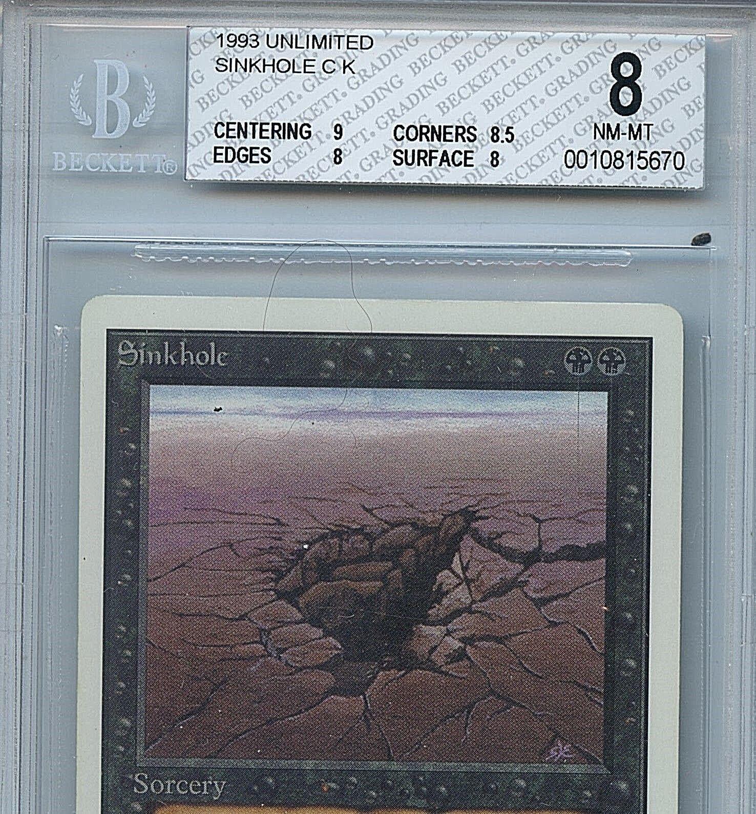 MTG Unlimited Sinkhole Magic WOTC BGS BGS BGS 8 NM-MT Mint Magic  Card Amricons 5670 0b0cc4