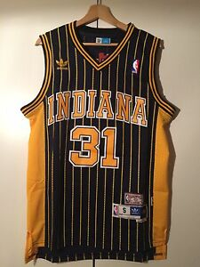 Maglia-canotta-NBA-basket-Reggie-Miller-Jersey-Indiana-Pacers-Retro-S-M-L-XL-XXL