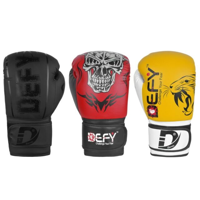 Boxing Short Gloves Training MMA Pu Punching Half Fighting Muay Thai Gym RED NEW