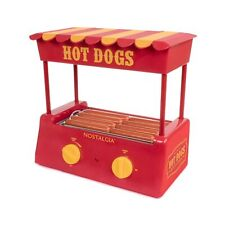Nostalgia Hot Dogs Rollers Bun Warmer Cooker Canopy 8 Regular Sized Redyellow
