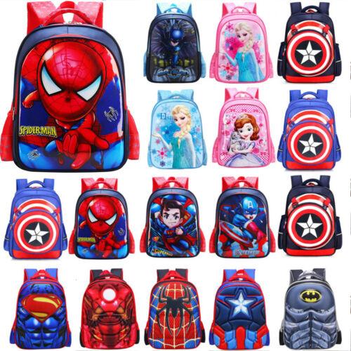 Boys Kids Girl 3D Marvel Avengers Spidermen Schoolbag Backpack Rucksack Book Bag