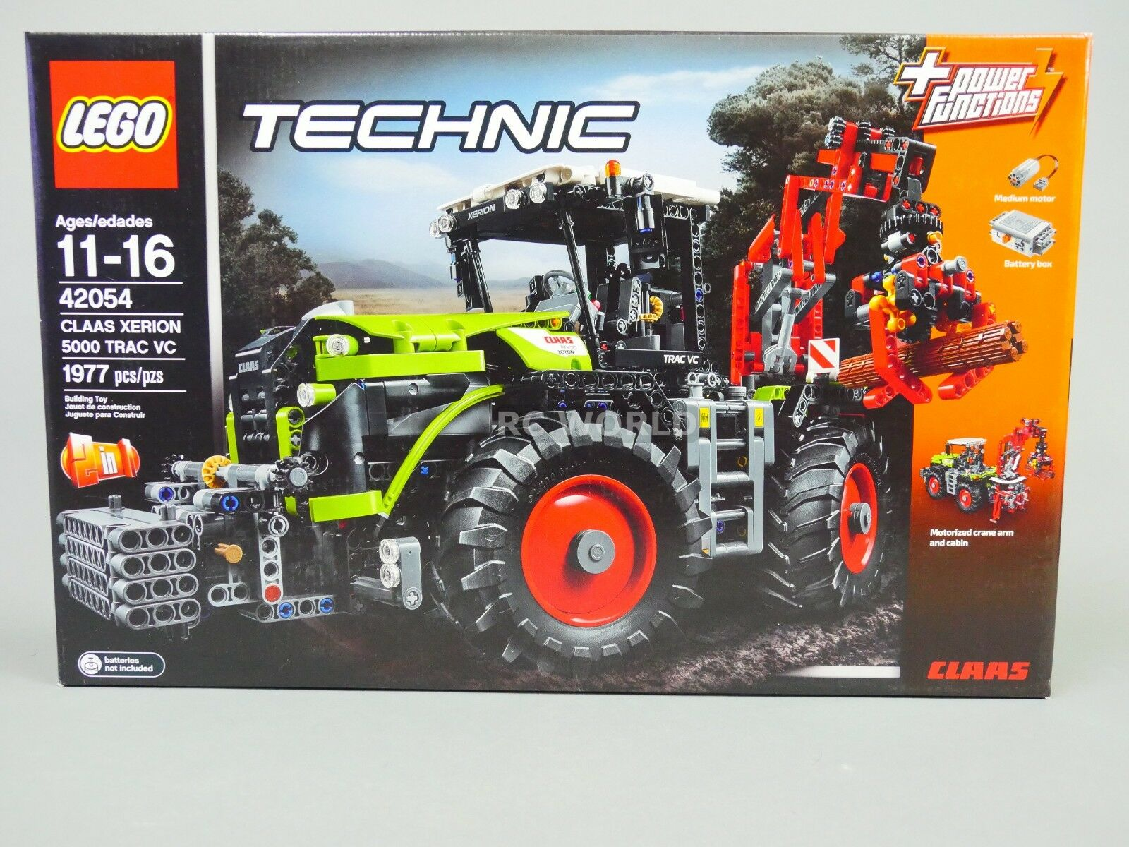 LEGO Technic CLAAS XERION 5000 TRAC VC Tractor Tractor Tractor  42054 (1977 pcs)  rk1t 7af1ac