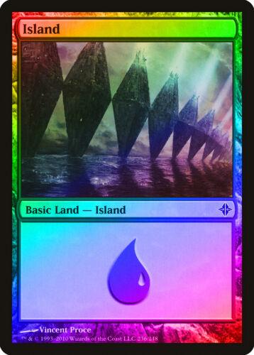 236 FOIL Rise of the Eldrazi PLD-SP Basic Land MAGIC MTG CARD ABUGames Island