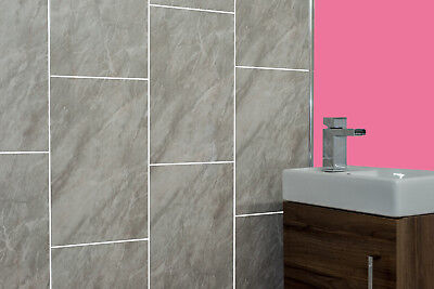 Storm Grey Tile Groove Cladding Kitchen Bathroom WC Office Wall Ceiling Panels
