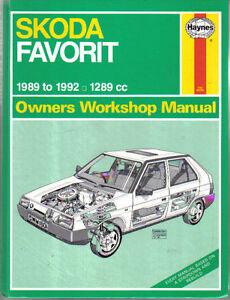 skoda favorit 135 136 haynes workshop manual 1989 1992 1289cc ebay rh ebay co uk skoda favorit 1994 manual skoda favorit service manual