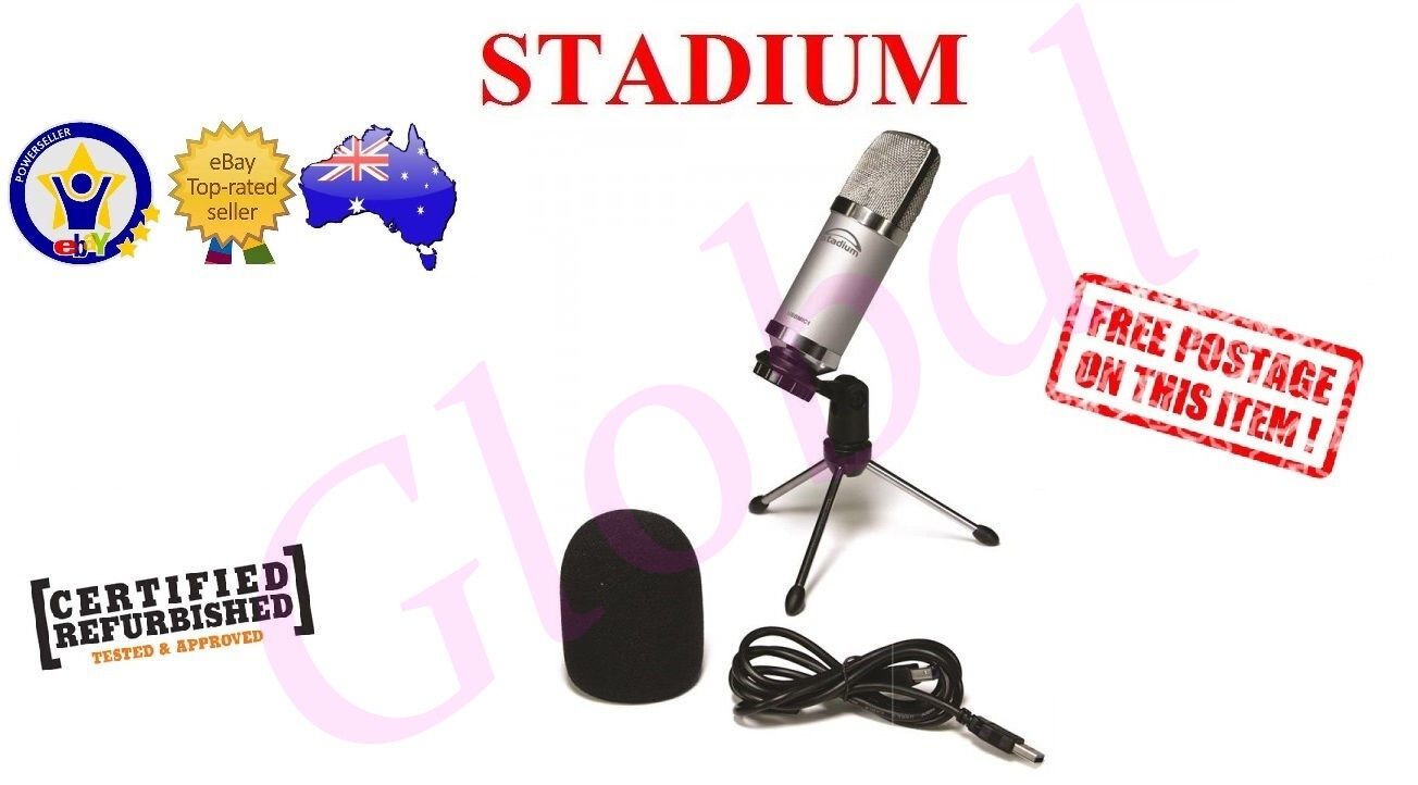 Details about Stadium USBMIC1 USB MIC Studio Microphone Podcast Broadcast  Youtube & Skype *RFB
