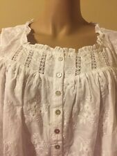 Eileen west nightgown  100% Cotton Lawn 2X Winter White