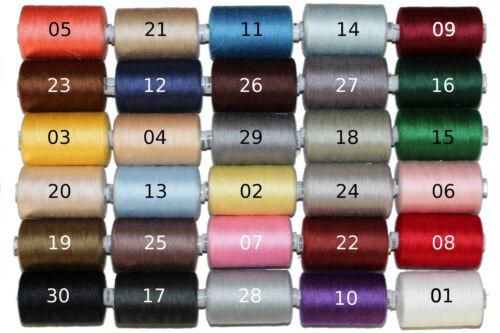 10 Spulen je 1000m frei wählbar 30 Farben 10000m Nähgarn