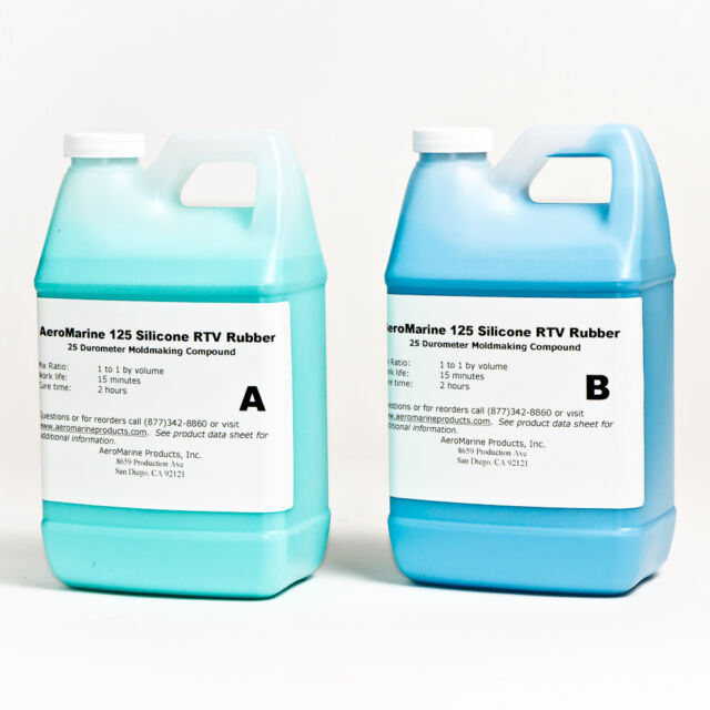 SILICONE RTV MOLD-MAKING RUBBER  SIMPLE 1:1 MIX 1 GALLON KIT