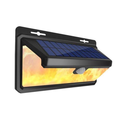 2-teilig 118led Solar Pir Bewegungssensor Wandlicht 3 Modi Außen Garten Lampe
