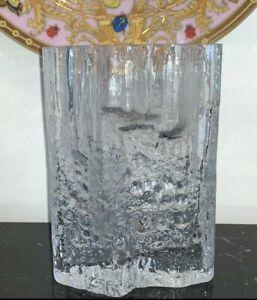 Iittala Tapio Wirkkala Textured Pinus Ice Block Finland Scandinavian Glass Vase Ebay