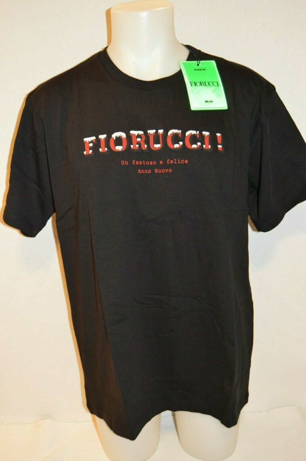 FIORUCCI Man's UN FESTOS E FELICE T-shirt NEW Size X-Large Retail