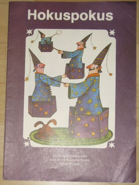 Zmeck Hocus-Pocus Bosco Magic Cubes and Other Magic Tricks Crafts Bow 1983