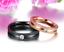 Anelli-Anello-Coppia-Fedi-Fede-Fedine-Fidanzamento-Nuziali-Cristallo-Acciaio-Oro miniatura 2