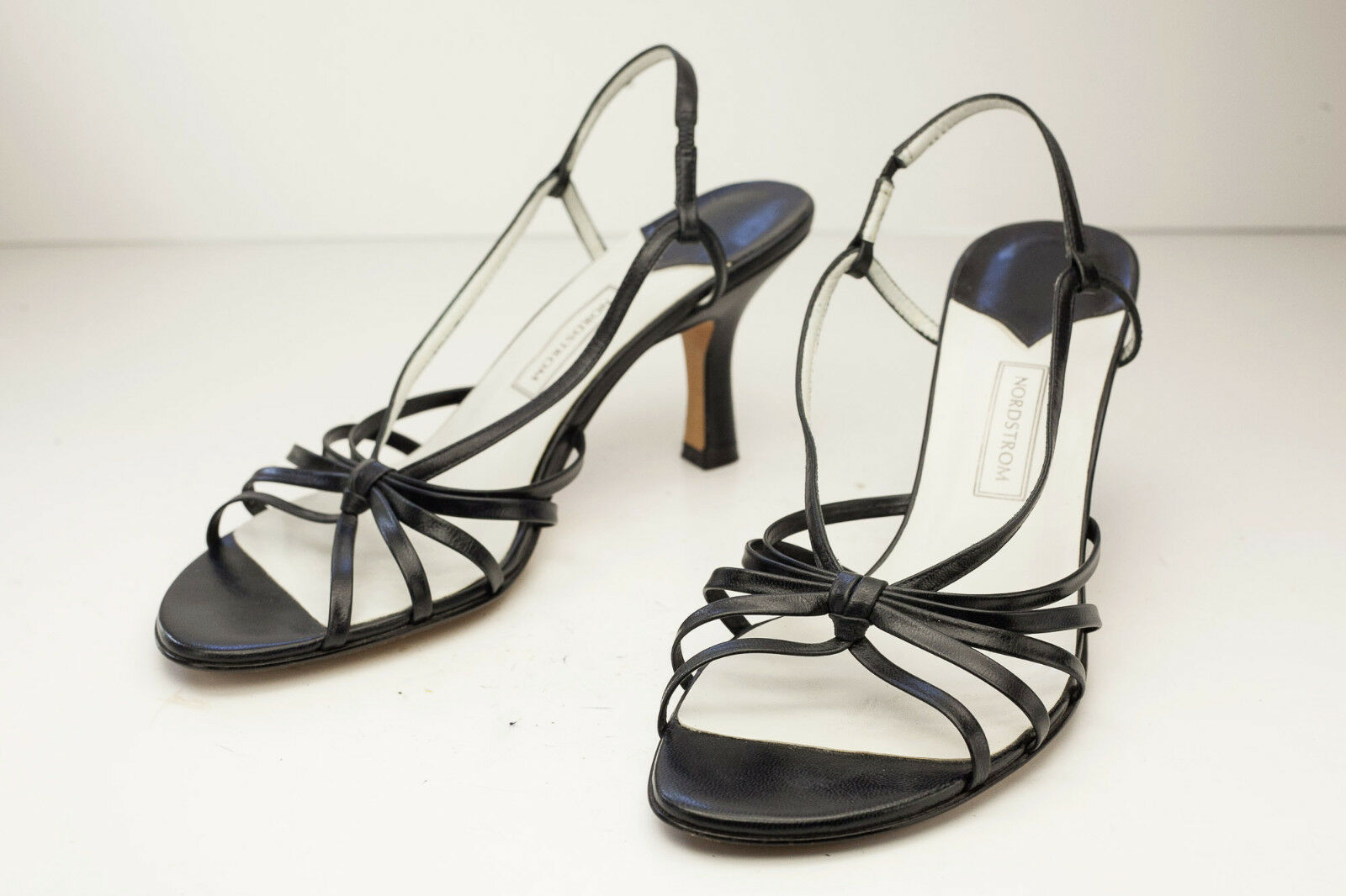 Nordstrom 8.5 Black Strappy Dress Sandal Women's