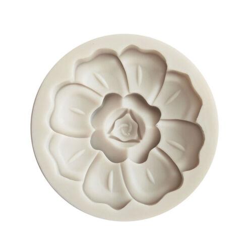 3D Flower Shape Silicone Fondant Mold Cake Decoration Baking Sugarcraft Mould