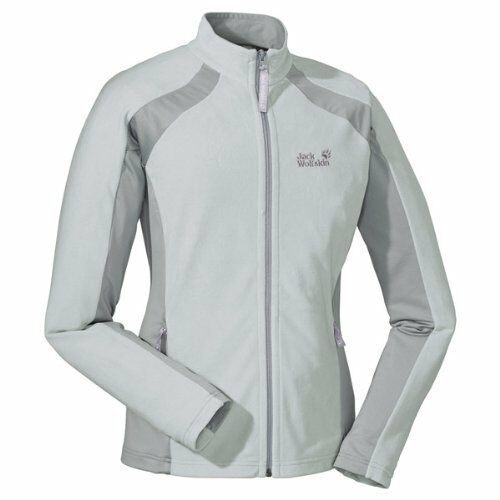 Jack Wolfskin Dynamic full ZIP Woman Fleece chaqueta ligeramente alta transpirable strec