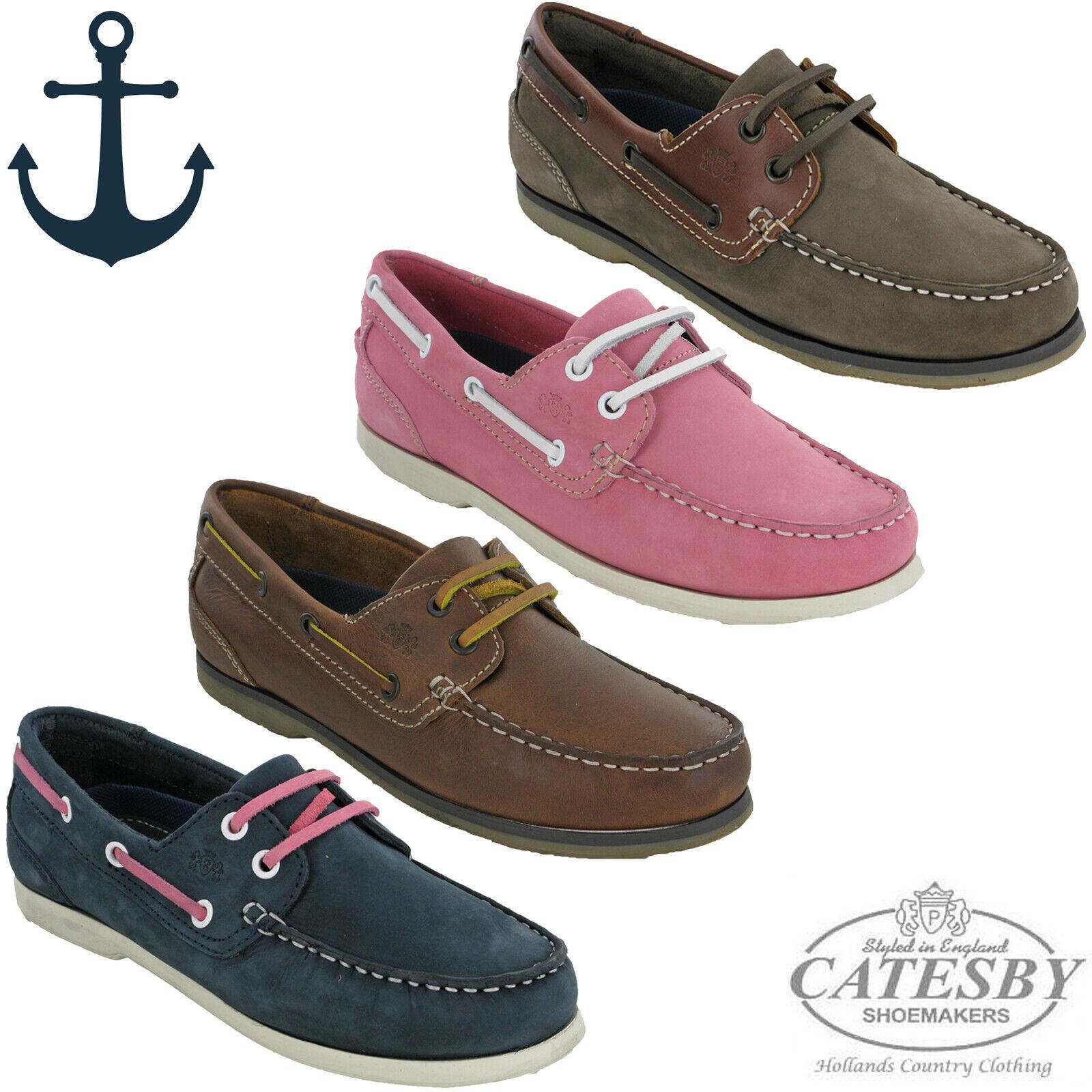 Femmes chaussures Bateau Cuir Pont Léger Dentelle Plat Confortable Été UK 4-8