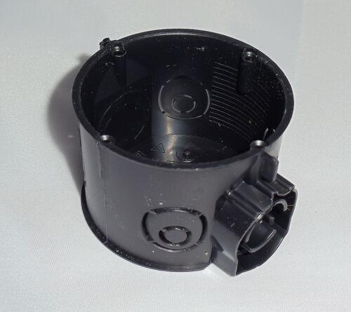 75 Stück Schalterdose flach Ø 60 mm 45 mm tief schwarz
