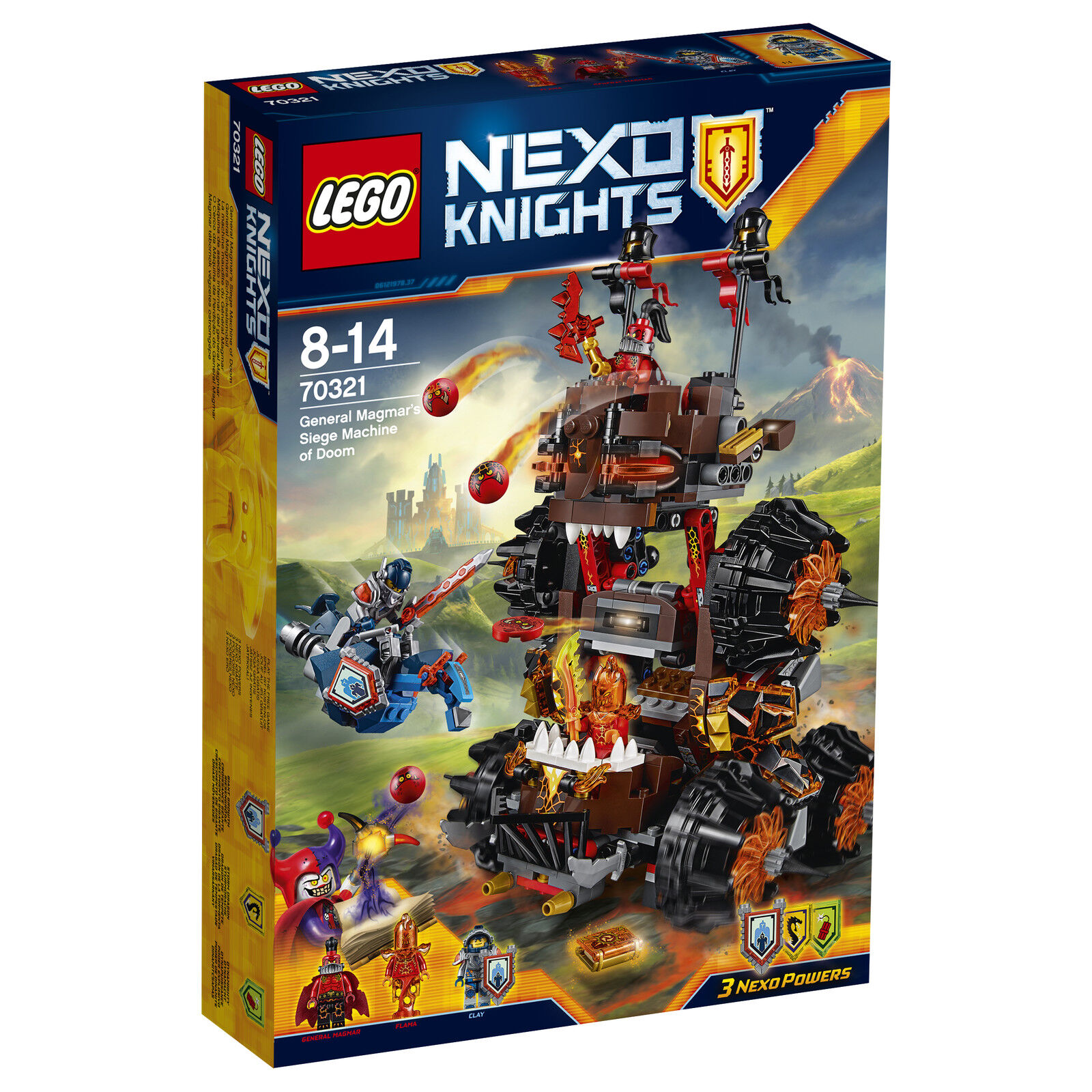 LEGO ® Nexo Knights ™ 70321 generale magmars destino mobile NUOVO OVP NEW MISB NRFB