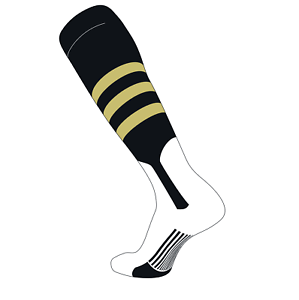 Black B, 7in Vegas Gold TCK Elite Baseball Knee High Stirrup Socks