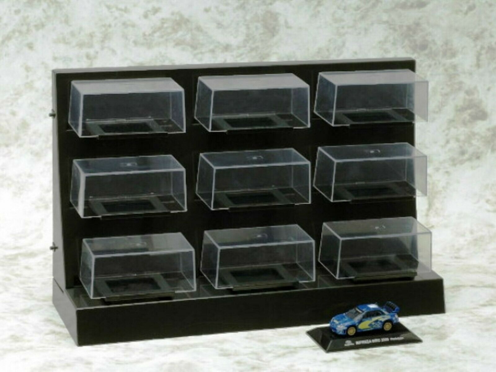 WOW EXTREMELY RARE Display Case Set 9 pcs for All Brands 1 64 CM's Kyosho