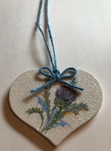 Thistle Hanging Decoration Shabby Chic Country Vintage Decal Purple Blue