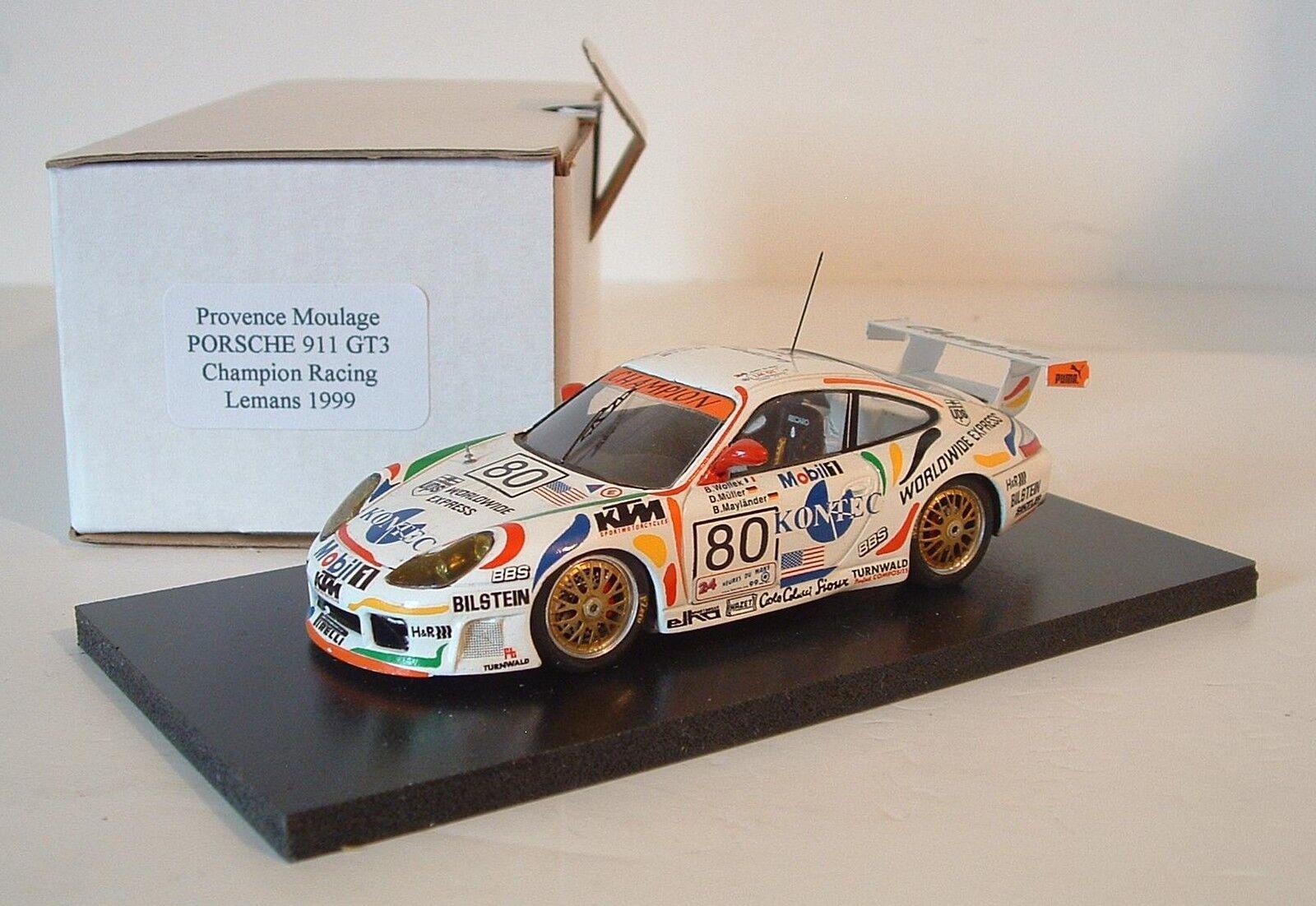 Provence Moulage 1 43 Porsche 911 GT3 24h LeMans 1999 Kontec Handbuilt Model