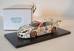 Provence-Moulage-1-43-Porsche-911-GT3-24h-LeMans-1999-80-Kontec-Handbuilt-Model