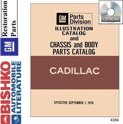 1970 1971 1972 1973 1974 1975 Cadillac Part Numbers Book List CD Interchange OEM