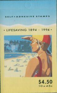 Australia-booklet-1994-SG1443-1444-45c-Lifesaving-MNH