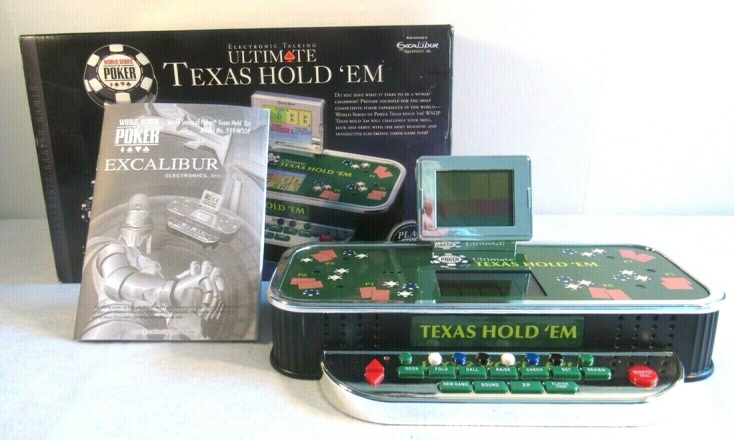 Excalibur World Series Poker Texas Hold Em Electronic Talking Video Game Tested