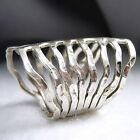 WRAP Ring Size US 6 - 7.5 (Adjustable) SilverSari Art Solid 925 Sterling Silver