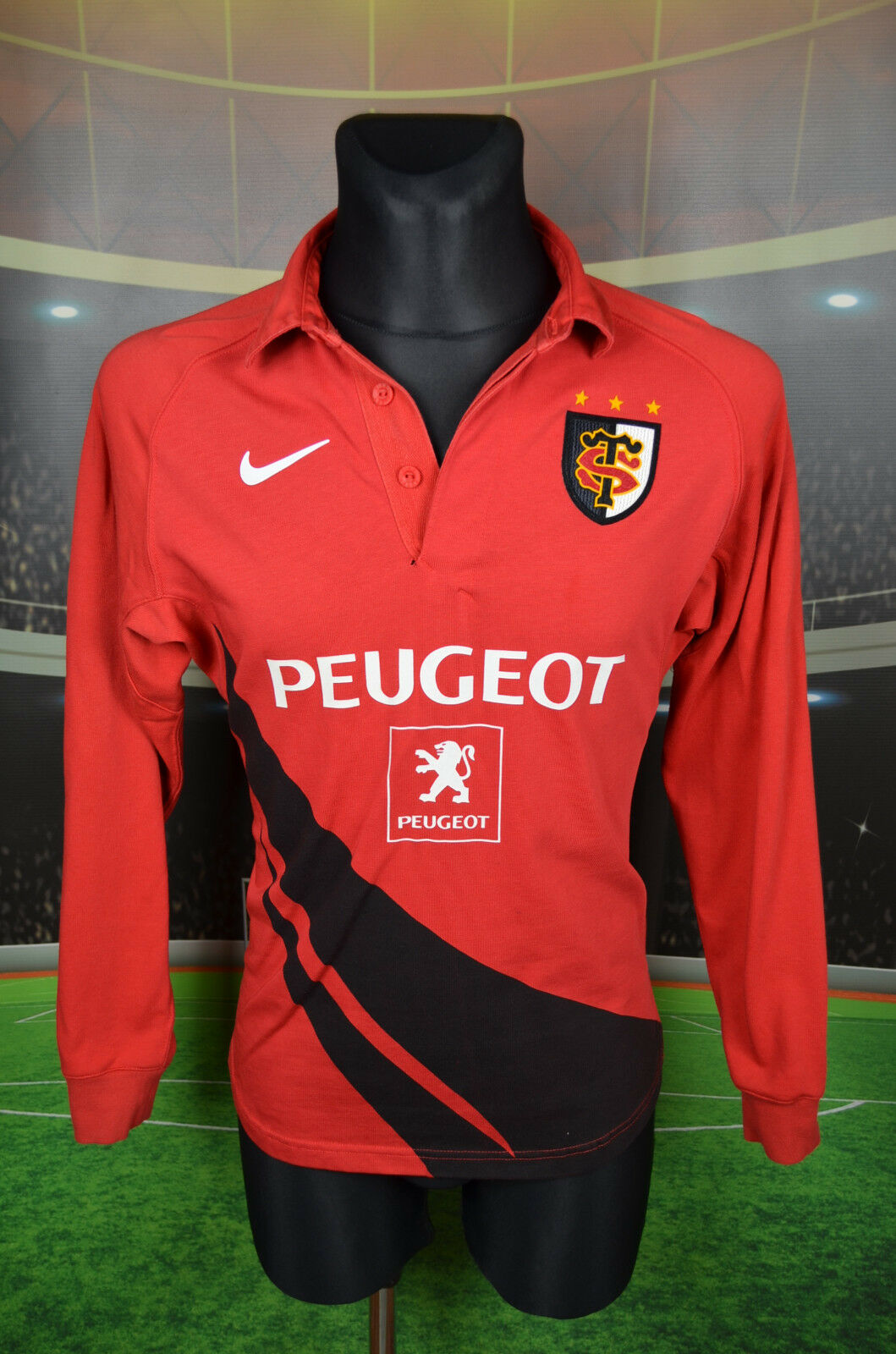 TOULOUSE NIKE RUGBY FOOTBALL SHIRT (S 36 38 44 48) JERSEY TOP MAILLOT L S TRIKOT