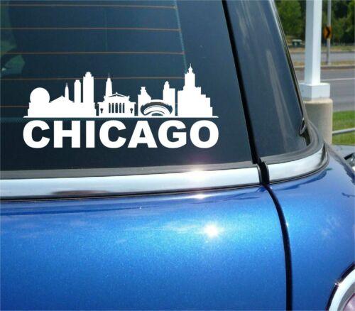 CHICAGO ILLINOIS CITY SKYLINE CITYSCAPE CAR WALL DECAL BUMPER STICKER