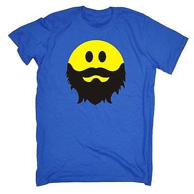 Bearded Viso Sorridente T-shirt Barba Pirata Smiley Retrò Ar Divertente Regalo Di Compleanno-mostra Il Titolo Originale