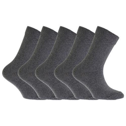 FLOSO Childrens//Kids Plain School Socks Pack Of 5 K339