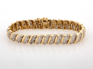 Estate-Diamond-Bracelet-14K-Yellow-Gold-2-32-CTW-Round-Diamonds-Ladies-7-034