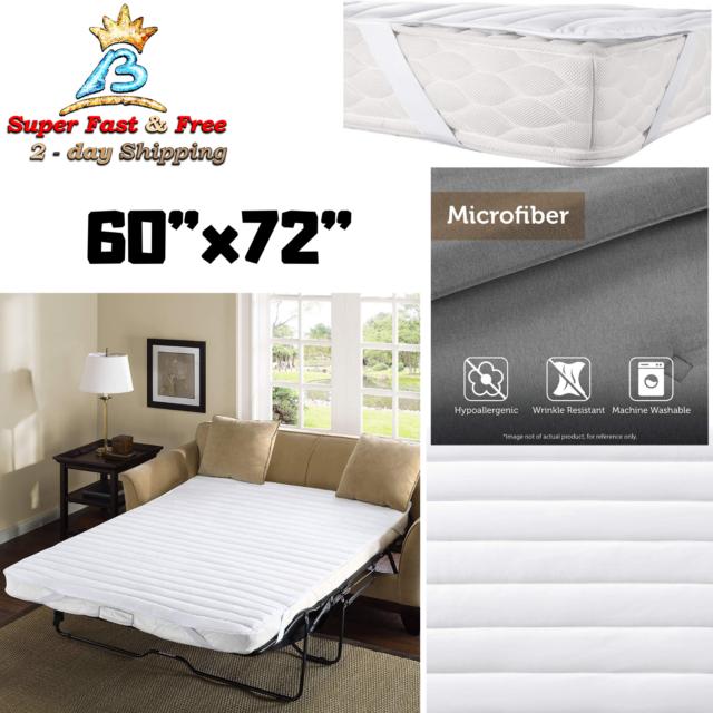 White Microfiber Sofa Bed Mattress Pad