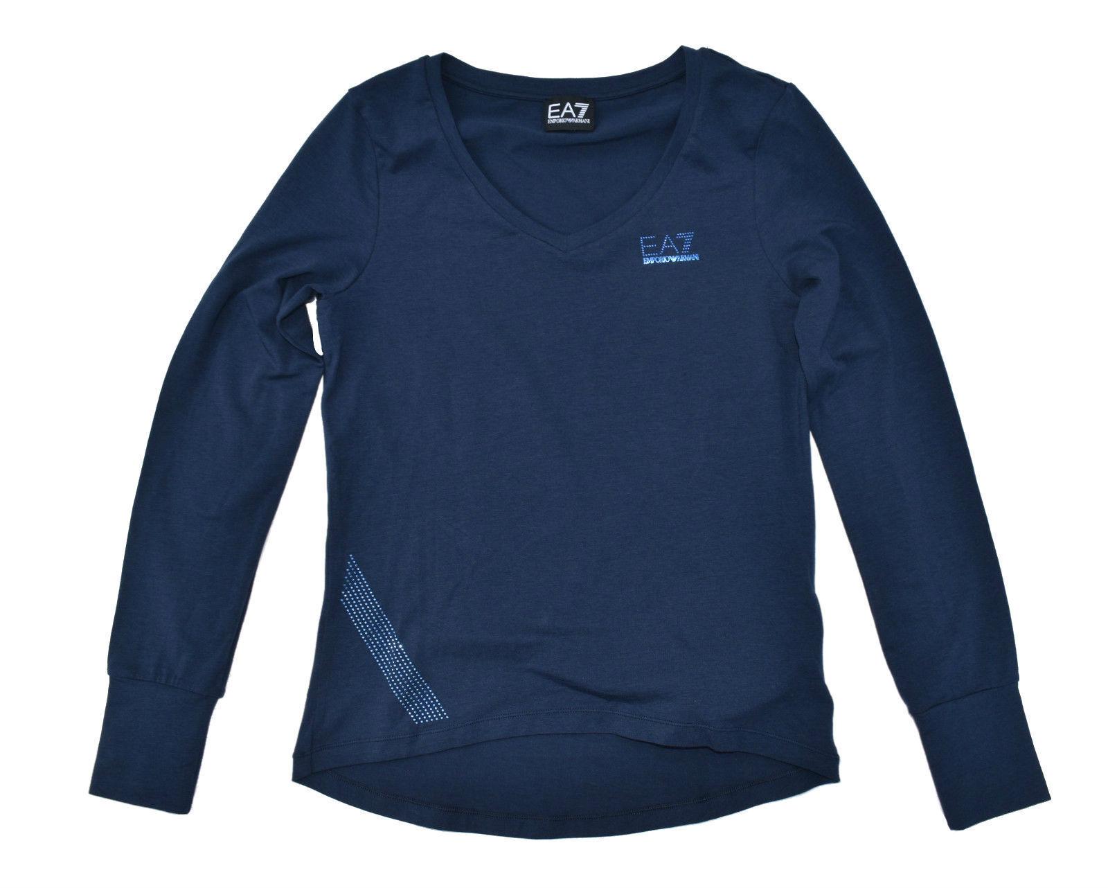 EA7 Damen Langarmshirt Sport Jogging Fitness Modal Cotton Longsleeves Glamour