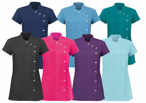 Ladies spa beauty salon tunic shirts nail massage for Spa uniform ebay