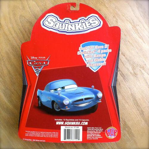 Disney PIXAR Cars 2 SQUINKIES RAMONE FLO LUIGI SARGE FINN Set of 12 SERIES 1