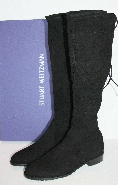 785 Stuart Weitzman KNEEZIE Black Suede Tall Boots Size 11 / 41