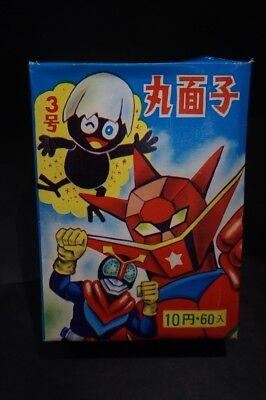 Set of 8 Small Vintage Menko Cards-Kamen Rider Robocon Japanese Characters