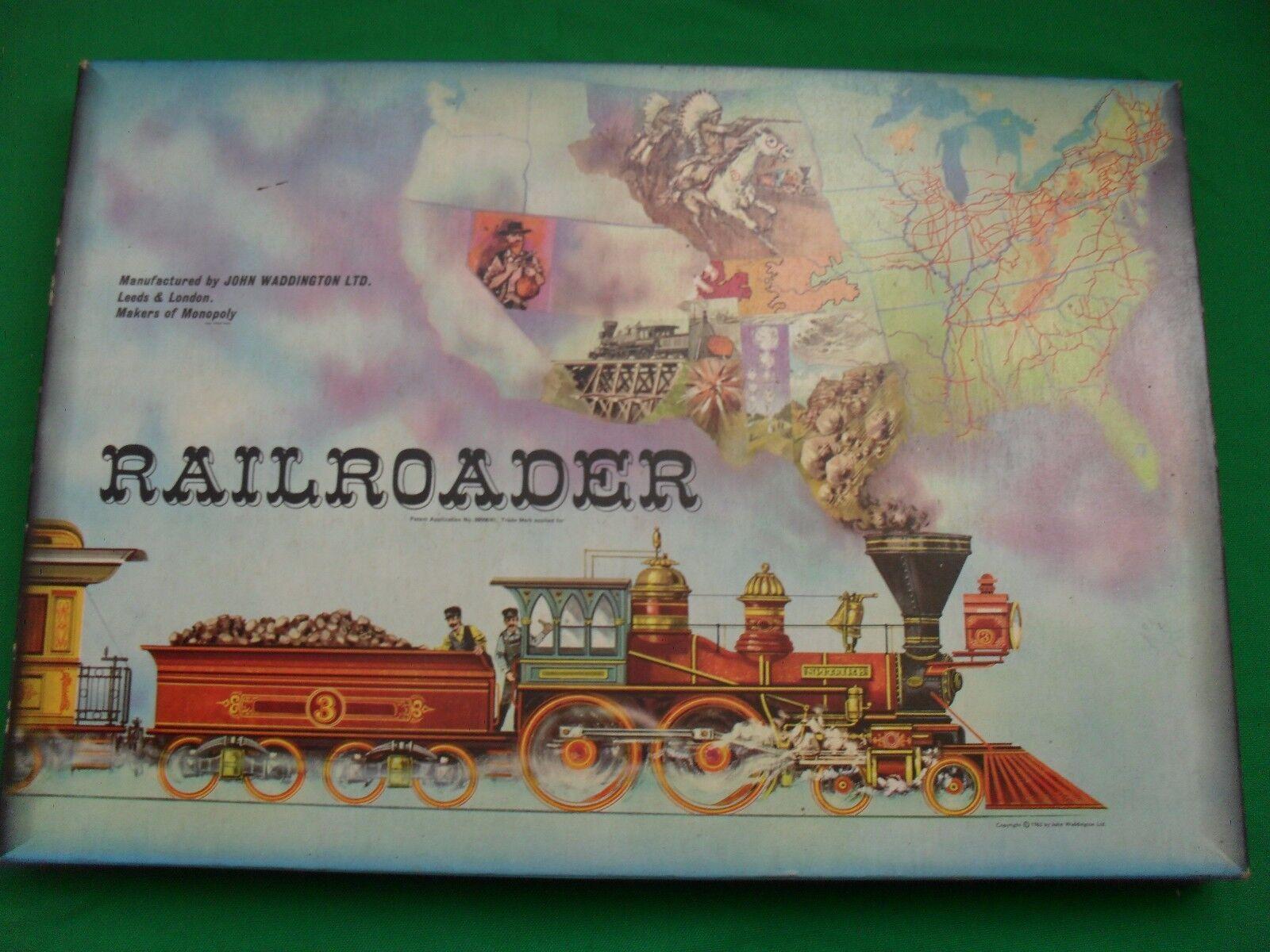 RAILROADER GAME - WADDINGTONS  vintage  Board games - 1963