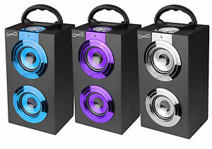 SuperSonic-Portable-Bluetooth-Chrome-Speaker-Wireless-Rechargeable-Battery