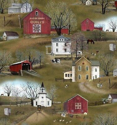 Cuarto gordo vuelo Casa Amish Homestead Acolchar Tela de costura