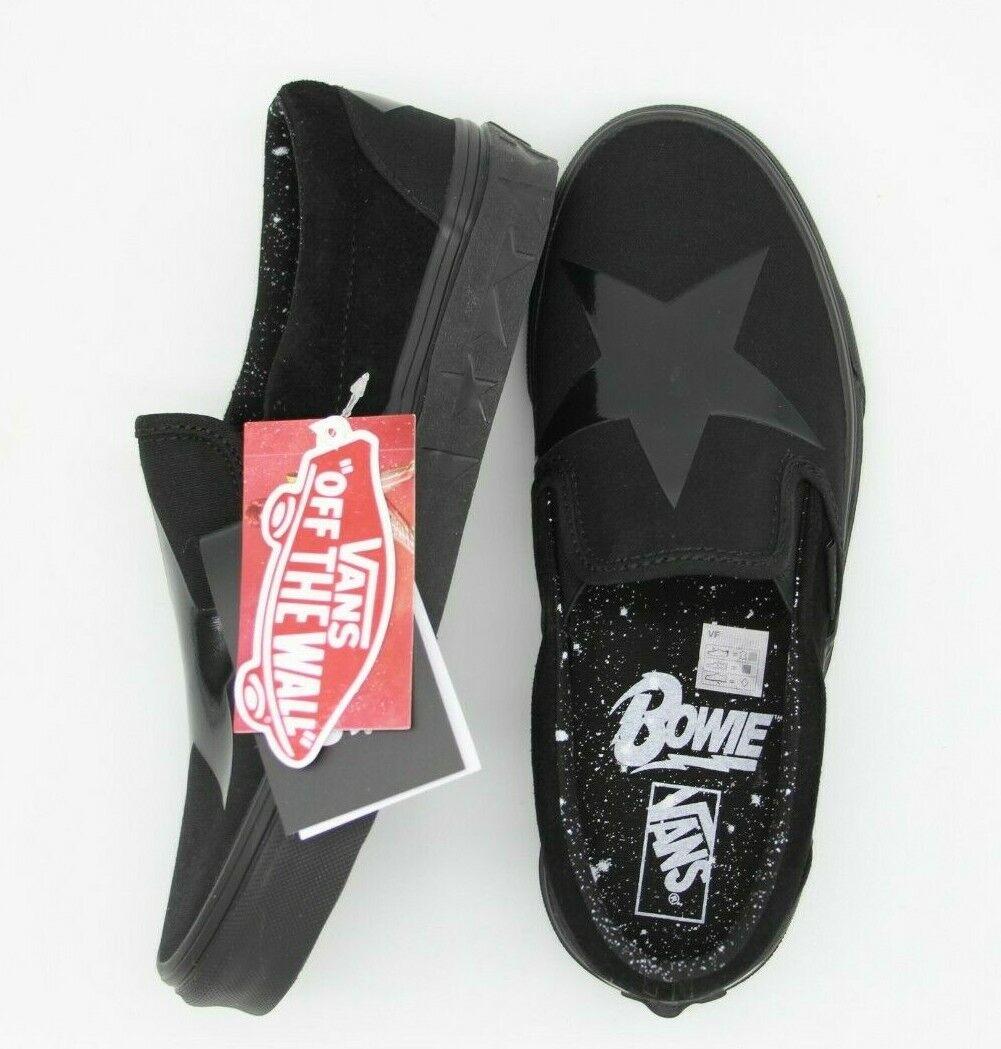 VANS BOWIE Sin Cordones Negro DAVID Estrella Negro Zapatillas Limited Edition VN0A38F7VLZ1